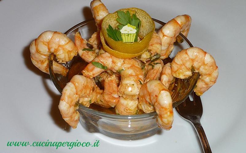 cucinapergioco gamberi all'aglio