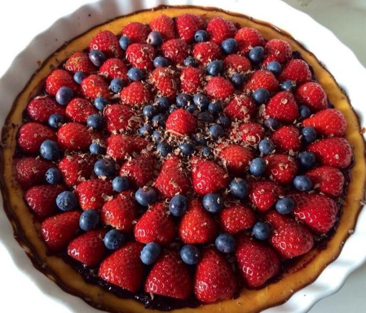 Cheesecake mascarpone ricotta e frutta fresca