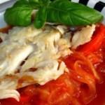 Filetto di baccalà ai peperoni