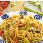 Spaghetti alla chitarra con cozze e fave