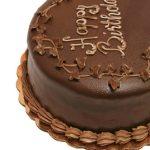 Facile torta di compleanno al cioccolato con glassa