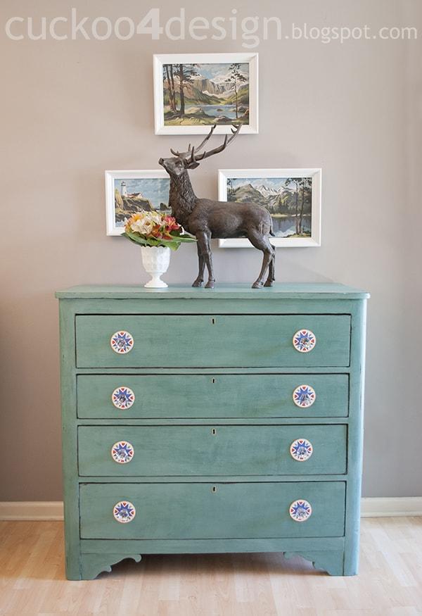 CeCe Caldwell Destin Golf Green Chalk Paint Dresser