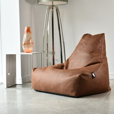 extreme lounging mighty b faux leather indoor bean bag in tan