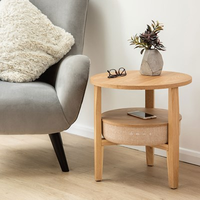 koble kobe smart side table with speakers wireless charging