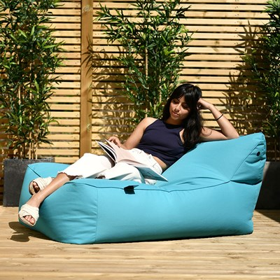 Turquoise Blue B Bed Outdoor Bean Bag