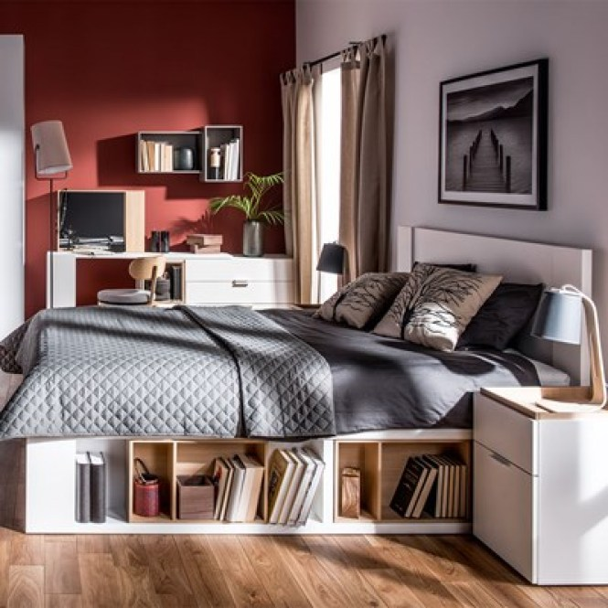 4 You White Double Bed Jpg
