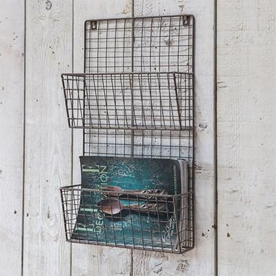 garden trading farringdon wire magazine rack