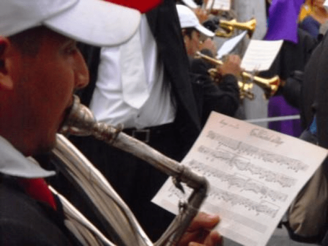 Partitura de una Marcha Funebre Guatemalteca