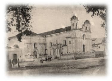 Templo la Parroquia en 1884