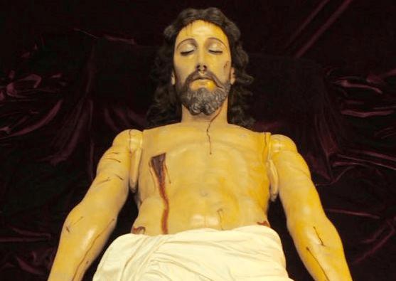 Entrega del Cristo Yacente del Calvario. Foto Jesusenguate