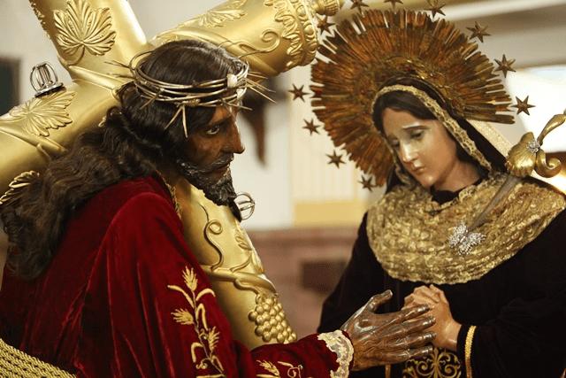 Jesús del Gallito y Virgen de Dolores. Foto Diego Garrido