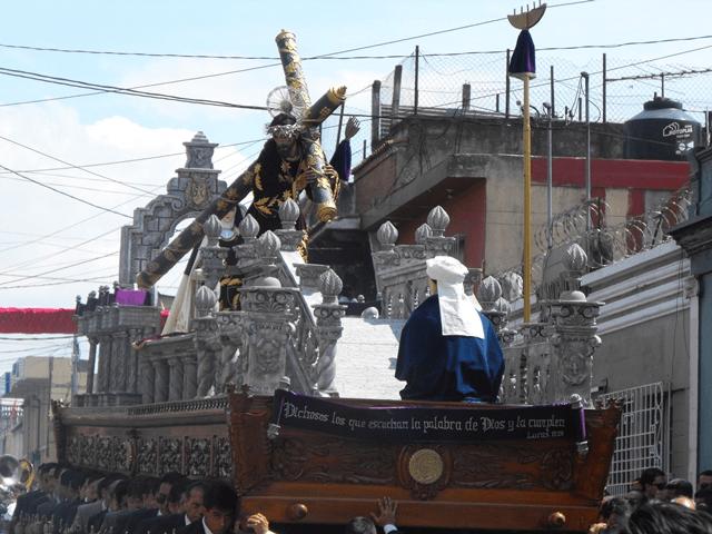andas procesionales Jesús del Rescate y Virgen de Dolores Santa Teresa