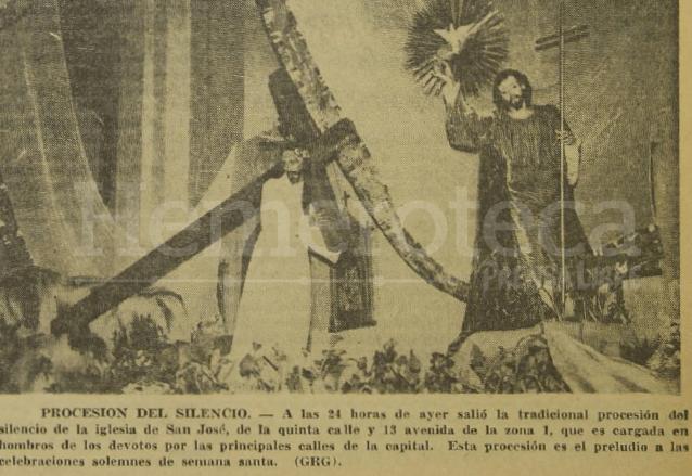 Procesión del Silencio del año 1965. FotoHemeroteca PL