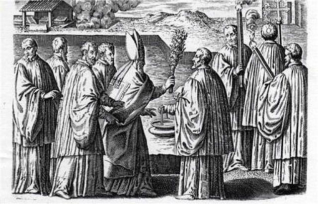 3, colocación de la primera piedra y bendición de los cimientos