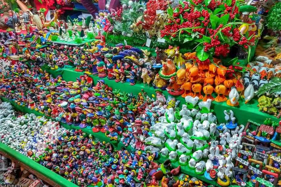 articulos que se encuentran en las ventas navideñas en Guatemala