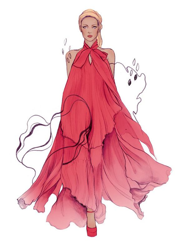 50 Amazing Fashion Sketches   Art and Design Fashion sketches by Soleil Ignacio