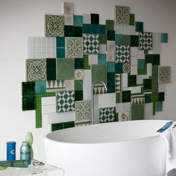 A mix of patterns and styles, an eclectic wall.