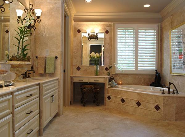 Comfort and luxury met in this bathroom.