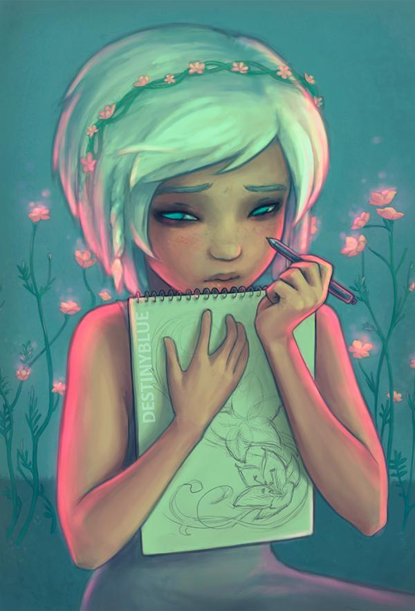 Don't watch me draw… - 50 Examples of Anime Digital Art <3 !