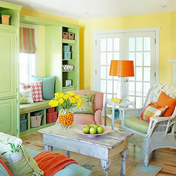 "Bright and shining, a living room that screams ""LIFE… LIFE!"""