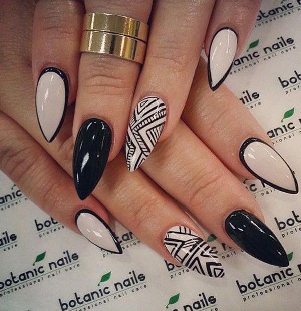 Black And White Nail Art 60 Exles Of 3