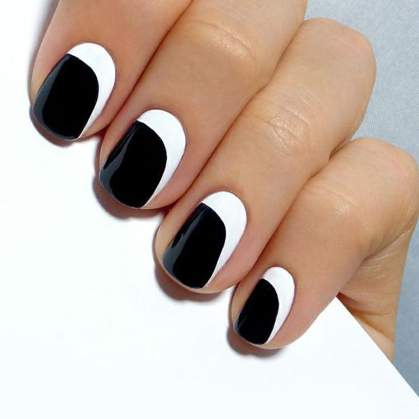 Black And White Nail Designs 6