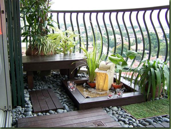Pretty Up Your Balcony By Adding Plants And Grass