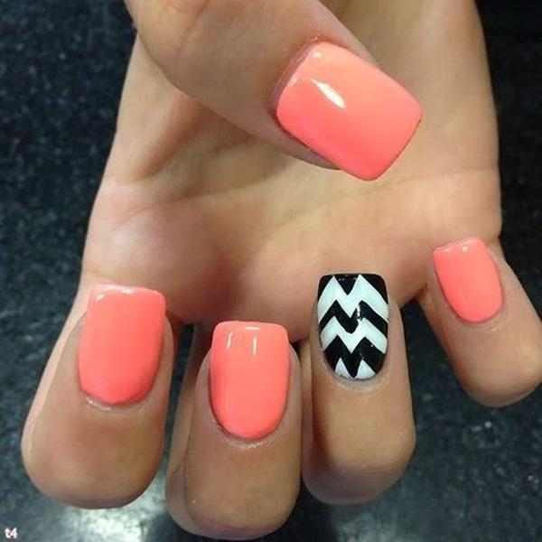 Be Crazy And Funky With This Bright Colored Nail Art Design The Nails Are