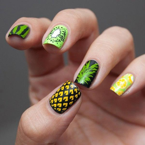 Fill Up Your Nails With This Amazing Tropical Fruit Inspired Nail Art