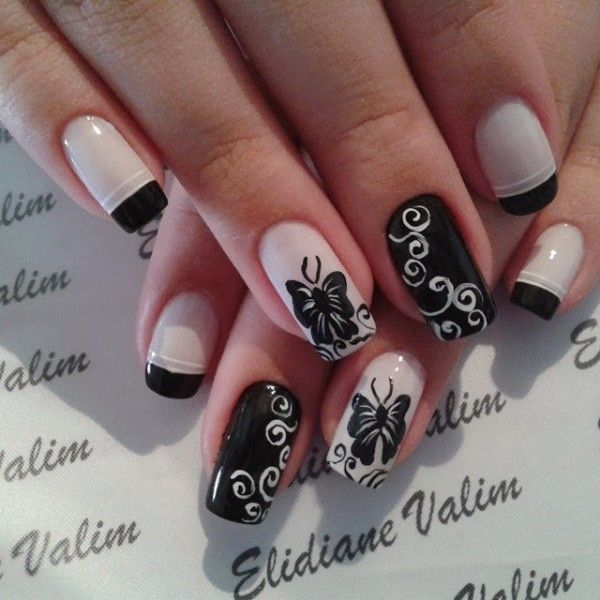 If You Re Looking For Fun And Quirky This Erfly Nail Art Design Will