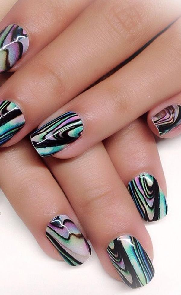 How To Make Marble Nail Art Designs At Home