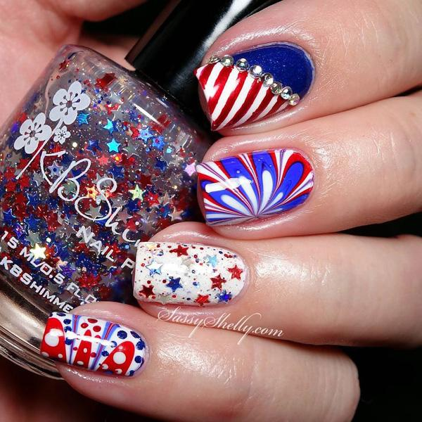 Add Sparkle To Your Fourth Of July Theme With A White Red And Blue Flower