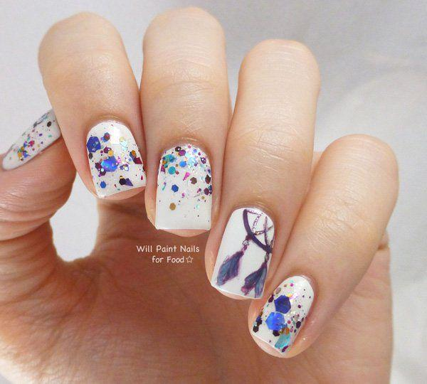 Create Pretty Looking Watercolor Splashes On Your Nails With This Nail Art References Work Pin It