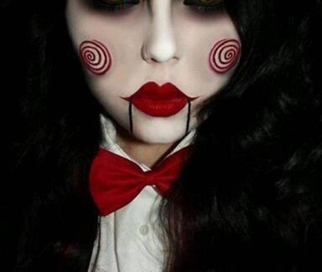 Dark Clown Halloween Makeup This Style Of Makeup Plays With White Black And Dark