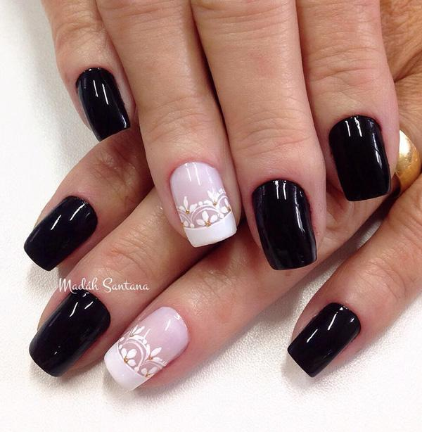 Simple Nail Art With Black And White Best Color Ideas
