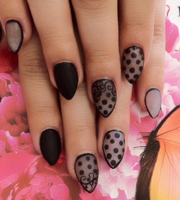 This Matte Black On Zebra Nail Art Design Is A Sleek And Professional Day To Look