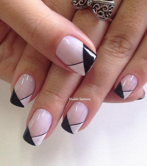 Wonderful Looking Black And White French Tip Partner This Clic With A Light