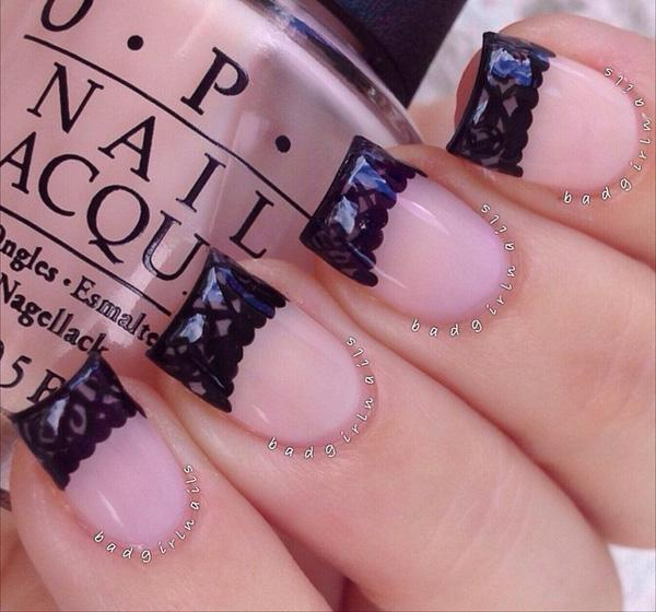 Lace Inspired Winter Nail Art French Tips Be Creative And Stand Out With These Simple