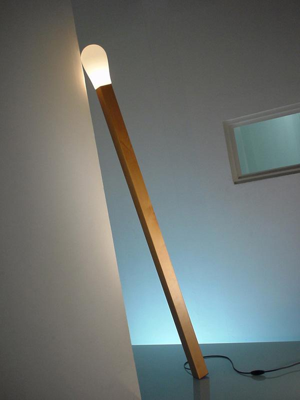 Life size matchstick lamp. Instead of producing fire, this adorable lamp gives off fluorescent light.