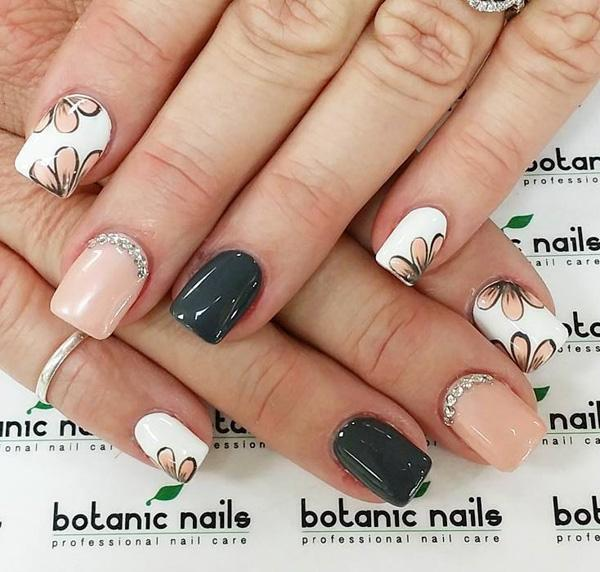 Nail Designs Grey And Pink Gray Art Design