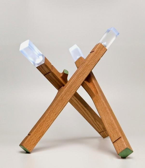 Matchsticks inspired lamp. Artistic and definitely gives you a lot of light when you need it.