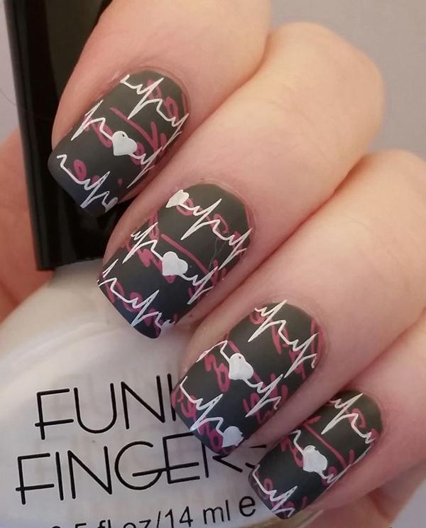 Simple Nail Art Design 1