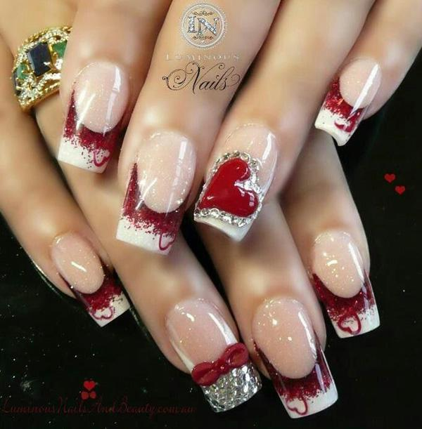 Valentine S Day Nail Art 10 50 Ideas