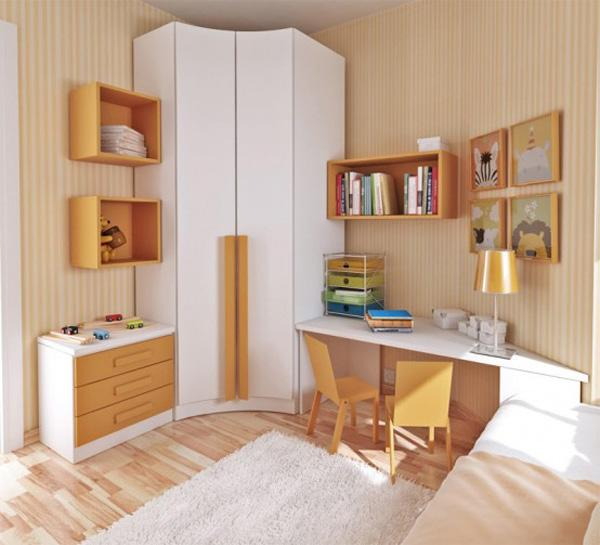 You can make that little area between your bed and your closet your little working area. It's much closer to your bed so anytime you want to take a quick break, it would be easy to lie down and then get back to work.