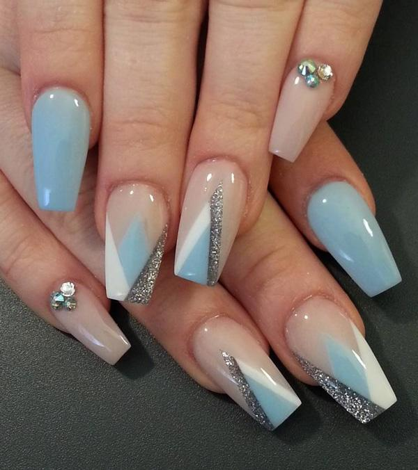 This Sophisticated But Very Soothing Nail Art Design Is Made Up Of Blue