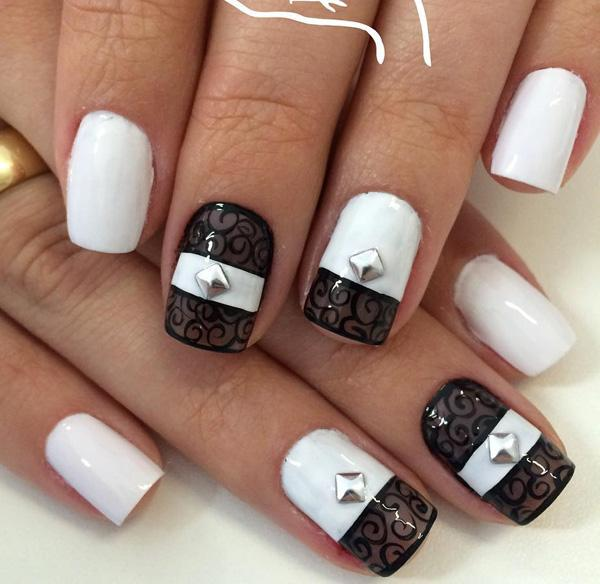 And Black Lace Inspired Nail Art Design Make Your Polish Unique By
