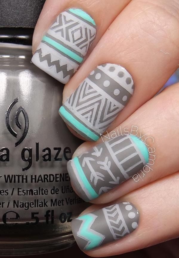 Use Your Darker Matte Gray Nail Polish And It As The Base