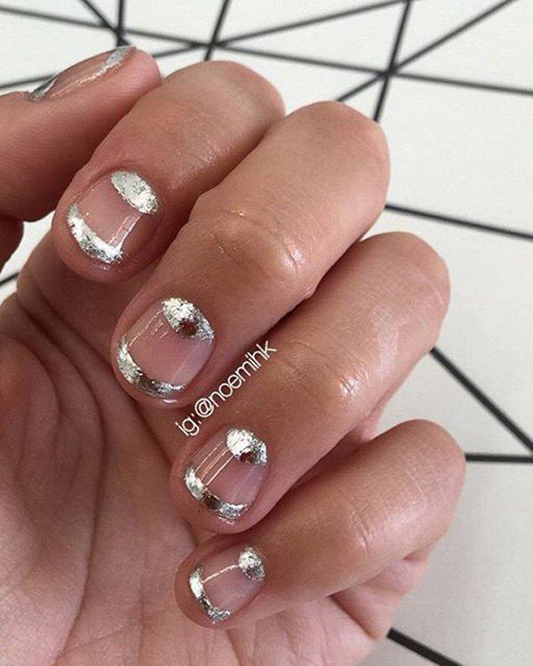 If you wish to have a metallic silver nail polish but you think it's not relaly working well with other colors, why not just use it with your bare nails and just add a protective layer of transparent nail polish.