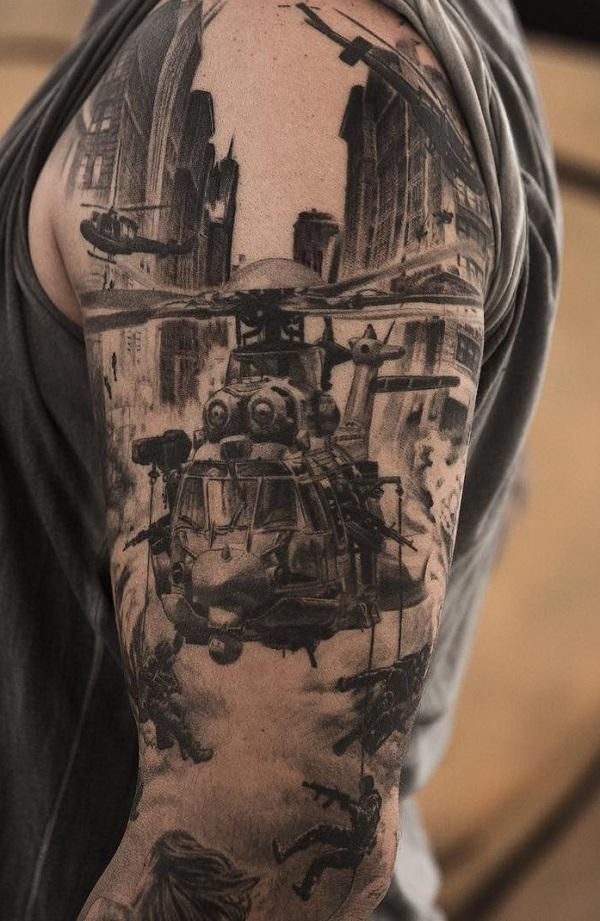 war themed tattoos