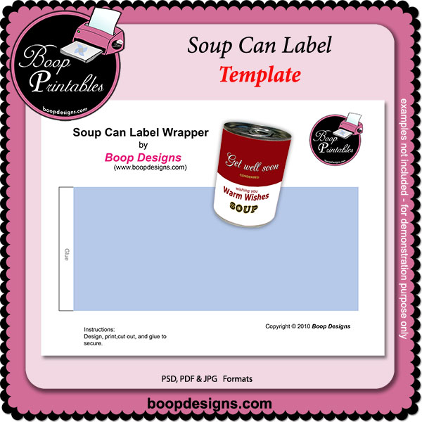 Soup Can Label Template By Boop Printable Designs Soup Can